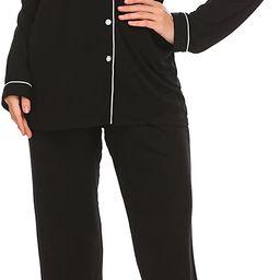 Ekouaer Pajamas Set Long Sleeve Sleepwear Womens Button Down Nightwear Soft Pj Lounge Sets XS-XXL   Amazon (US)