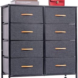 WAYTRIM 4-Tier Wide Drawer Dresser, Storage Unit with 8 Easy Pull Fabric Drawers and Metal Frame,...   Amazon (US)