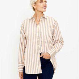 Striped Pocket Tunic Shirt   LOFT