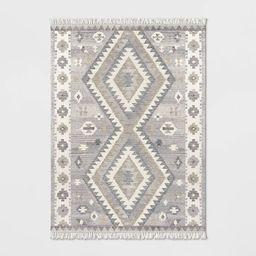 Sedwick Geometric Medallion Hand Tufted Wool Rug Cream - Threshold™   Target