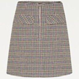Organic Cotton Check Mini Skirt | Tommy Hilfiger (US)