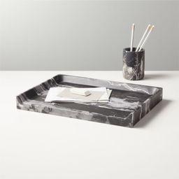 Strata Black Marble Office Accessories | CB2 | CB2