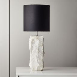 Raw Marble Table Lamp + Reviews | CB2 | CB2