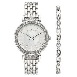 Time and Tru - Time and Tru Ladies Casual Watch Set - Walmart.com | Walmart (US)