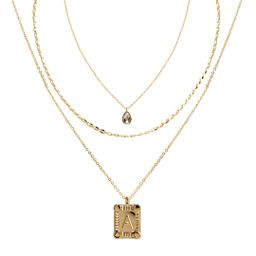 """Seren Jewelry - Seren Jewelry Initial Letter """"A"""" Gold Pendant Necklace Set for Women, Delicate Go... 