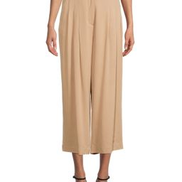 Time and Tru - Time and Tru Women's Pleated Wide Leg Pants - Walmart.com | Walmart (US)