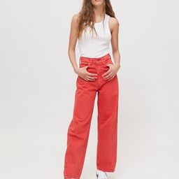 BDG Rih Extreme Baggy Jean – Red | Urban Outfitters (US and RoW)