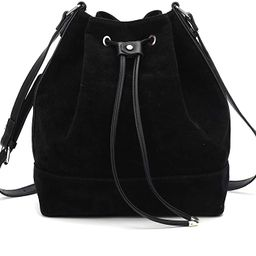 AFKOMST Drawstring Bucket Bag and Purses For Women,Soft Faux Suede Shoulder Bag and Hobo Handbags... | Amazon (US)