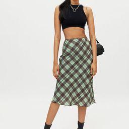 X-girl Diamond Plaid Midi Skirt | Urban Outfitters (US and RoW)