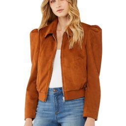 Scoop - Scoop Women's Puff Sleeve Faux Suede Jacket - Walmart.com | Walmart (US)