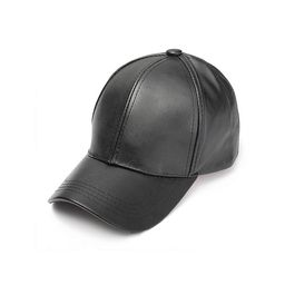 ORSHES - ORSHES Fashion Mens Faux Leather Trucker Baseball Caps Snapback Adjustable Peaked Hats -...   Walmart (US)