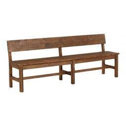 Distressed Brown Wood Gulianna Extra Long Dining Bench | World Market