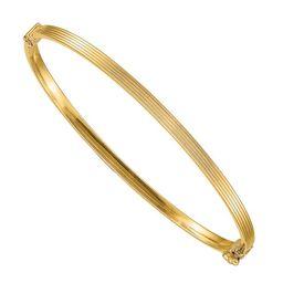 Primal Gold - Primal Gold 14 Karat Yellow Gold Polished Textured Hinged Bangle Bracelet - Walmart... | Walmart (US)