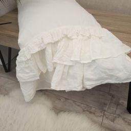 Linen shabby chic pillowcase Linen Pillowcase with triple | Etsy | Etsy (US)