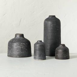 Distressed Ceramic Vase Dark Gray - Hearth & Hand™ with Magnolia   Target