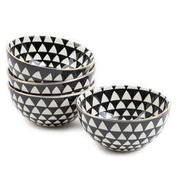 Thyme & Table Dinnerware Black & White Medallion Stoneware Round Bowls, 4 Pack - Walmart.com   Walmart (US)