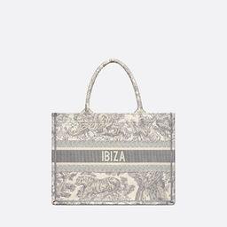Small Dior Book Tote Gray Toile de Jouy Ibiza Embroidery - Bags - Women's Fashion | DIOR | Christian Dior (US)