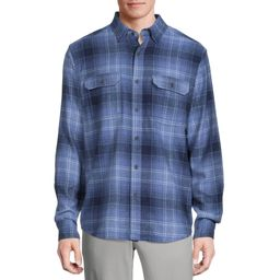 GEORGE - George Men's and Big Men's Super Soft Flannel Shirt, up to 5XLT - Walmart.com | Walmart (US)