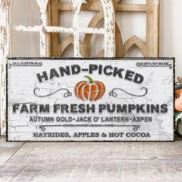 Farm Fresh Pumpkins Sign, Modern Farmhouse Decor, Large Canvas Wall Art, Antiques Sign, Farmhouse... | Etsy (US)