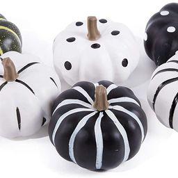 Mimacoo Artifical Pumpkins Set,Hand-Painted Mixed Colors Foam Pumpkins for Halloween Thanksgiving...   Amazon (US)