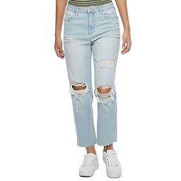 Rewind Womens High Rise Straight Ripped Relaxed Fit Jean - Juniors | JCPenney