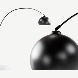HomeLampenStehlampenBow Bogenlampe, Mattschwarz und Marmor | MADE.com (DE & AT)