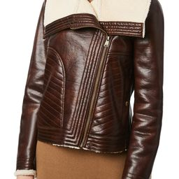 Bernado Faux Leather Moto Jacket with Faux Shearling Lining   Nordstrom