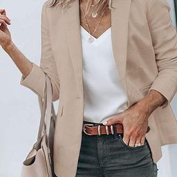 Cicy Bell Womens Casual Blazers Open Front Long Sleeve Work Office Jackets Blazer | Amazon (US)
