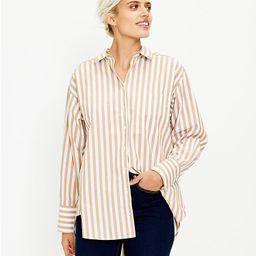 Striped Pocket Tunic Shirt | LOFT