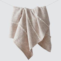 Contigo Wool Throw - Sand | The Citizenry
