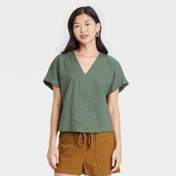 Women's Short Sleeve Blouse - Universal Thread™   Target
