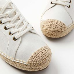 Espadrille Lace Up Sneakers   LOFT