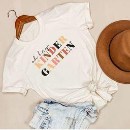 Kindergarten Teacher Shirt, Teacher Shirt, Kindergarten Crew Shirt, Kindergarten Teacher Tee, Kin... | Etsy (US)