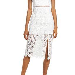 Side Slit Lace Midi Dress | Nordstrom | Nordstrom