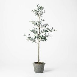 """75"""" Artificial Sparse Olive Tree in Pot - Threshold™ designed with Studio McGee   Target"""