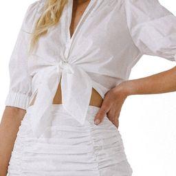 Tie Front Crop Shirt | Nordstrom