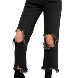 Maggie Distressed Straight Leg Jeans | Nordstrom