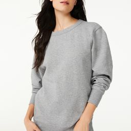 Free Assembly Women's Tunic Fleece Sweatshirt with Long Sleeves   Walmart (US)