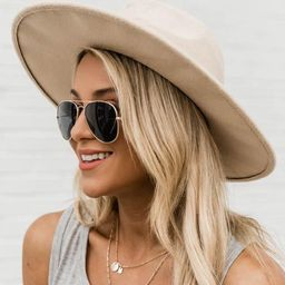 For Next Time Ivory Wide Brim Fedora Hat | The Pink Lily Boutique