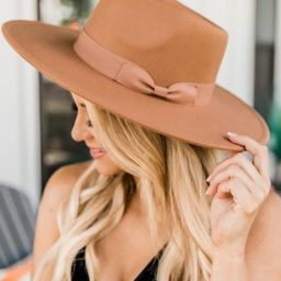 Different Time Zones Mocha Wide Brim Fedora Hat | The Pink Lily Boutique