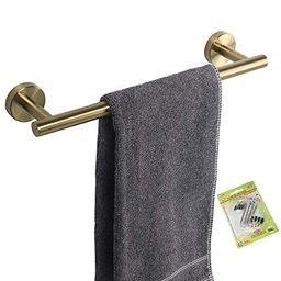 TocTen Bath Towel Bar - Thicken SUS304 Stainless Steel Towel Rack for Bathroom with 4 S Hooks, Ba...   Walmart (US)