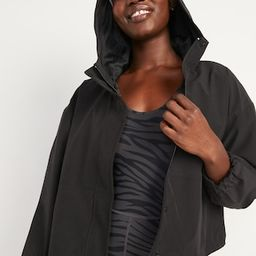 Water-Resistant Hooded Cropped Utility Jacket for Women   Old Navy (US)