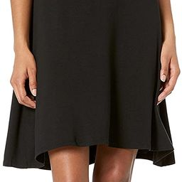 Amazon Essentials Women's Short-Sleeve V-Neck Swing Dress | Amazon (US)
