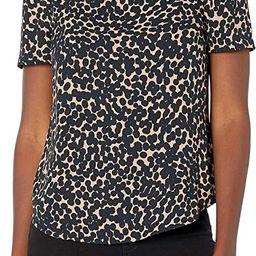 Amazon Brand - Lark & Ro Women's Crepe De Chine Half Sleeve Bateau Square Neck Top | Amazon (US)