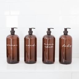 LCo Exclusive: Plastic Shower/Bath Amber Liquid Pumps   THELIFESTYLEDCO