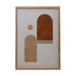 Lanai Geometric Wood Framed Glass Wall Decor - Light Wood   THELIFESTYLEDCO