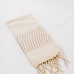 Alfie Fringed Stripe Tea Towel   THELIFESTYLEDCO