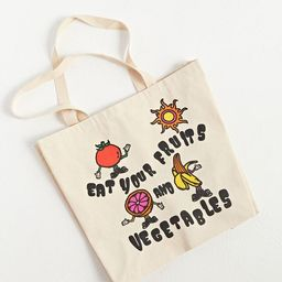 Altru Apparel Eat Your Fruits & Vegetables Tote Bag | Urban Outfitters (US and RoW)