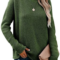 Saodimallsu Womens Turtleneck Oversized Sweaters Chunky Long Sleeve Loose Casual Pullover Slouchy...   Amazon (US)