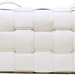 Luxury Design Weave PU Leather Shoulder Crossbody Messenger Bags Women Purse and Handbags | Amazon (US)